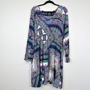 Maeve | Blue Green V-Neck Monaco Dress